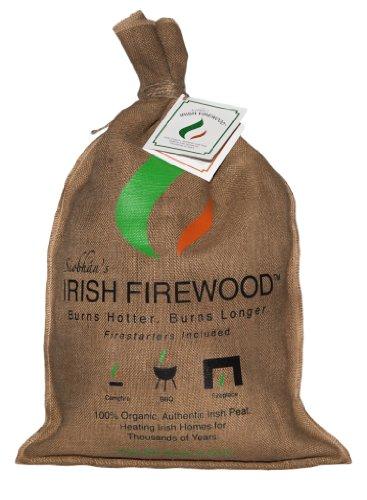 Siobhan's Irish Firewood (Irish Turf with Fire Starters) (Logs Fire Irish)