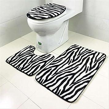 San Bodhi® 3 Stück Bad Teppich Set Muster Badezimmer Teppich ...