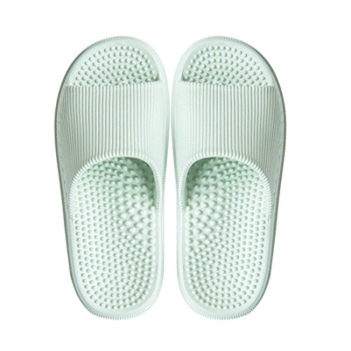 Green Beach Slippers HUAIDE Shower Bathroom Massage Slip Slipper Non Household n8w0Rwqz71