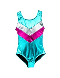 Girls' Gymnastics Sparkle Leotard One-piece Suits Tumbling Dance Activewear Workout
