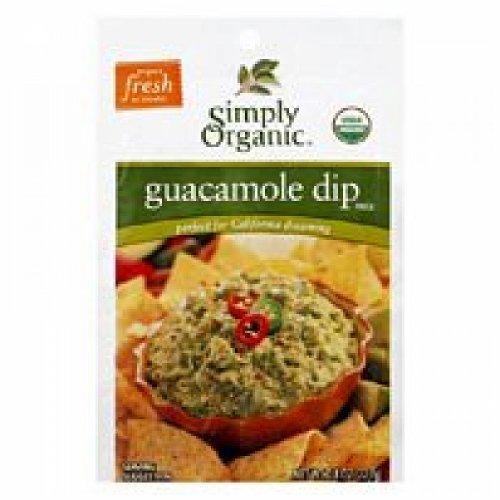 Simply Organic Guacamole Dip, 12 Packets, 0.8 oz (22.7 g) Each