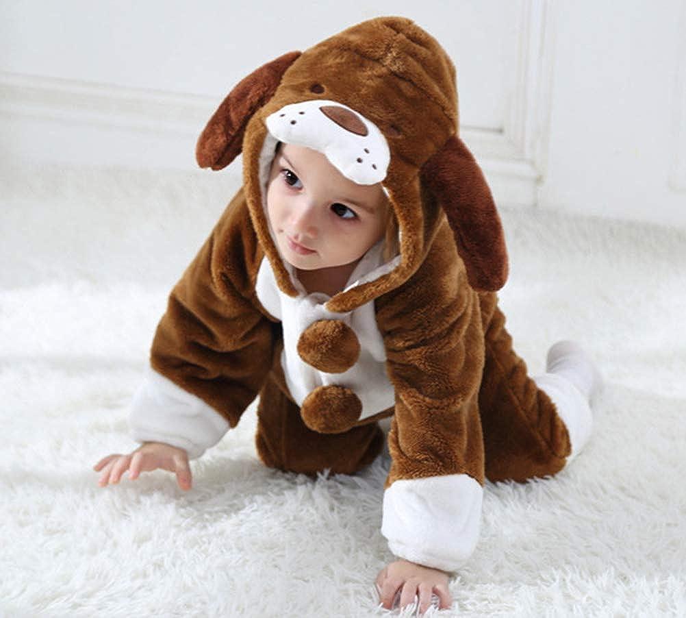 Doladola Baby Boys Girls Rompers Animal Hooded Onesie