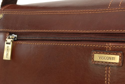 Borsa Messengeri in pelle Vintage Visconti - VT7 - Marrone Chiaro