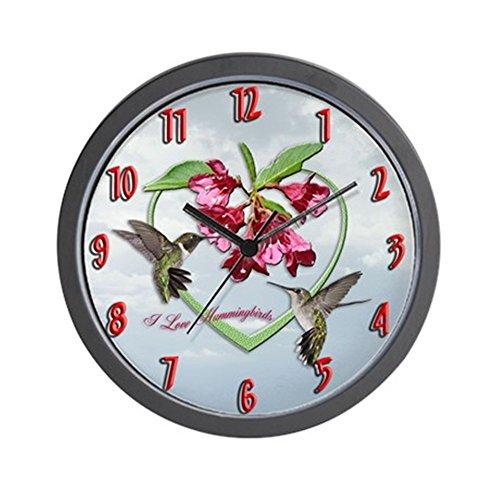 (CafePress I Love Hummingbirds Wall Clock Unique Decorative 10