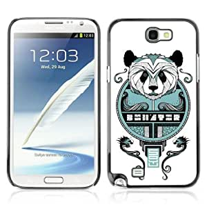 Designer Depo Hard Protection Case for Samsung Galaxy Note 2 N7100 / Cool Asian Panda Mosaic