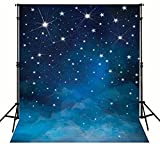 5X7FT space starry night sky galaxy stars backdrops High-grade portrait cloth Computer printed party Background dd-MR-1845