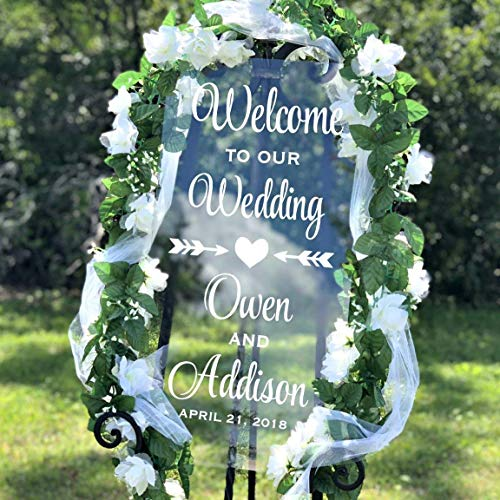 Welcome To Our Wedding Decal, Personalized Welcome Wedding Decal, Several Sizes & Colors, DECAL ONLY]()