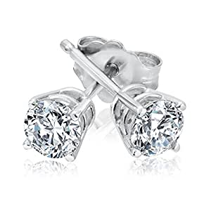 Round Diamond Stud Earrings 1/2ctw