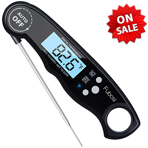 Digital Meat Thermometer - Fubosi Waterproof Instant Read Food Thermometer with Calibration and Backlight Functions, Digital Cooking Thermometer for Grilling BBQ Water Milk Tea Bathing (for Baby)