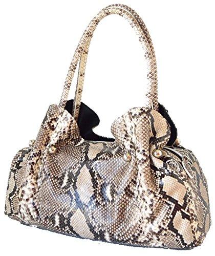 St Snake Skin Women's Handbag Python Bag Purse Hobo