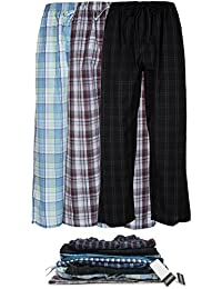 Men's 3 Pack Super Soft Woven Pajama & Sleep Long Lounge Pants