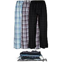 De los hombres 3Pack Super Suave tela Pajama & Dormir Lounge pantalones de largo