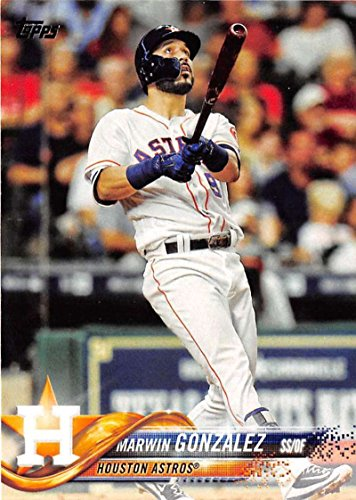 2018 Topps #215 Marwin Gonzalez Houston Astros Baseball Card