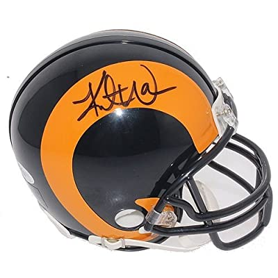Kurt Warner Autographed St. Louis Rams Mini Helmet - JSA Certified Authentic