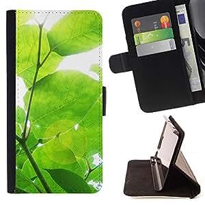 For HTC Desire 820 Case , Sun Árbol Verde Naturaleza Primavera- la tarjeta de Crédito Slots PU Funda de cuero Monedero caso cubierta de piel