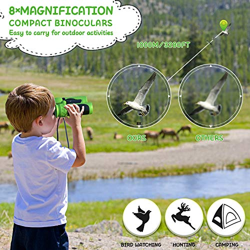 UTTORA Binoculars for kids Shock Proof Binoculars Powerful Magnification 8X21 lightweight Compact Telescope Gift Toy for Boys and Girls