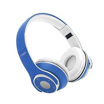 Kobwa Bluetooth auriculares, 360 ° surround estéreo inalámbrico auriculares, plegable, suave memory-