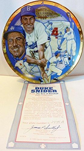 "1993 DUKE SNIDER ""The Unbeatable"" Hamilton Collection Collectors Edition Plate With COA"