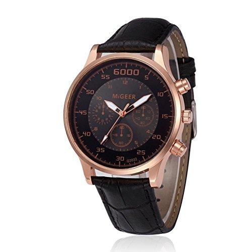 - Big Paymenow Men Classic Watch Luxury Chronograph Watches Quartz Business Wrist Watch for Men Boys (Black)