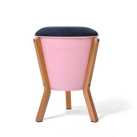 Multifunctional Seat Stool Round Ottoman Storage Stool Wood Support ...