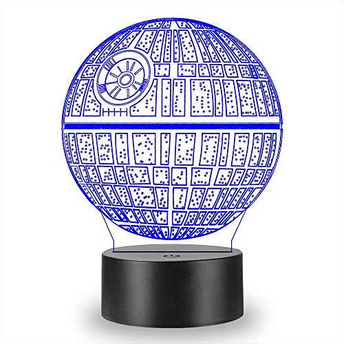 Gaopin Death Star Starwars 3D Lamp Night Light