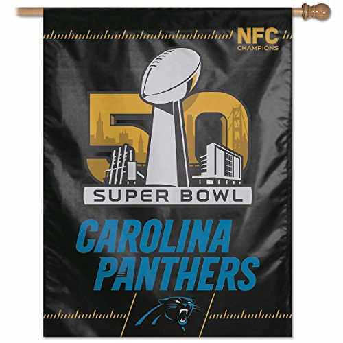 Nfc Football League - WinCraft Carolina NFC Champs Super Bowl 50 Flag and Banner