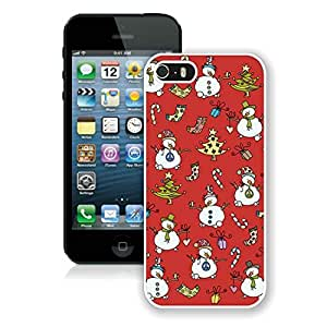Personalization Iphone 5S Protective Cover Case Christmas Snowman iPhone 5 5S TPU Case 1 White