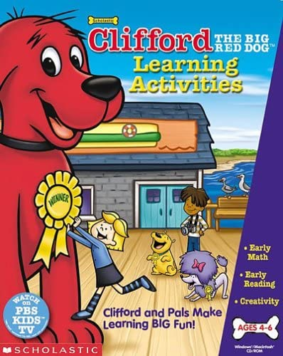 B00005NN16 Clifford the Big Red Dog Learning Activities - PC 510M1EQXWHL