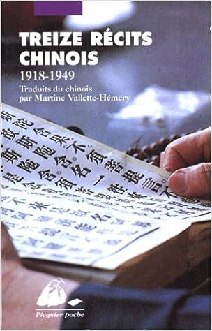 Livres gratuits Treize récits chinois (1918-1949) pdf, epub