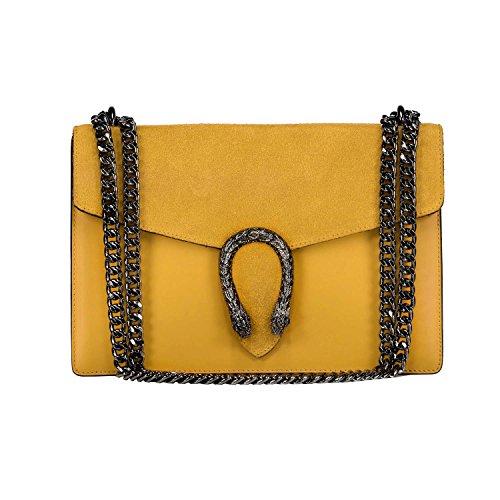 Yellow Leather Handbags - 4