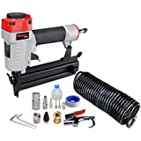 PowRyte 18 Gauge Air Brad Nailer with 15pc Starter Kit, 3/8-inch to 2-inch, Tool-Free Jam Release Mechanism
