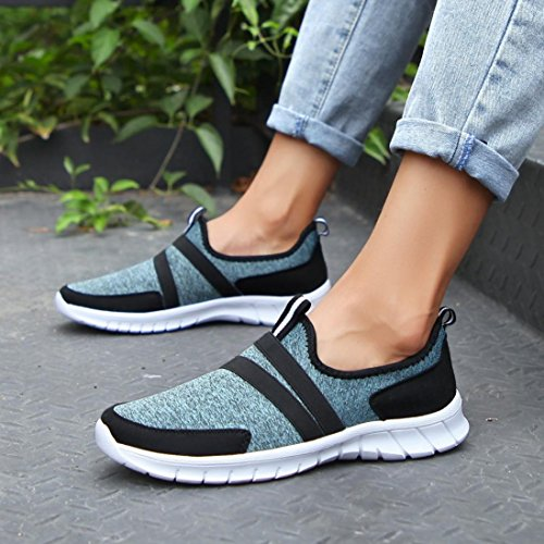 Peso Mujeres Cinnamou Ocio Zapatillas Zapatillas Verano Deporte de Ligero Malla de Unisex Hombres Mocasines Claro o Transpirable Adulto Running del Zapatillas Zapatos Azul U4xv7wqUr