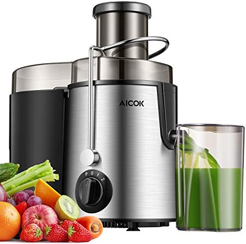 3 Speed Juice Machine AICOK Whole Fruit and Vegetable Juicer Easy Clean