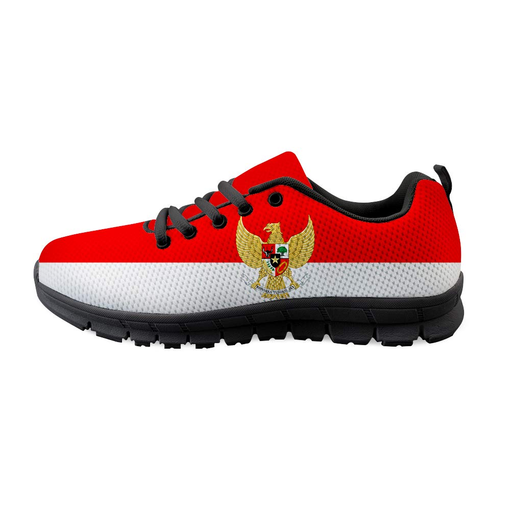 Lace-up Sneaker Training Shoe Mens Womens Indonesia Flag National Emblem