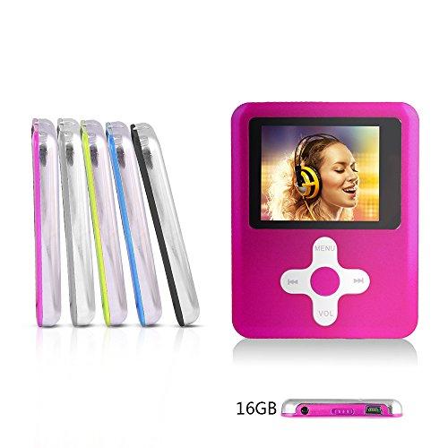 Btopllc Einfache Bedienung von MP3-Player, MP4-Player 16 GB Karte, MP3 Portable Multimedia Music Player - Pink2