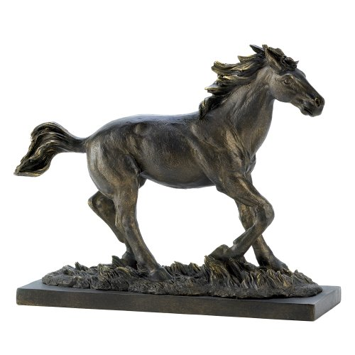 Bronze Horse - Gifts & Decor Wild Stallion Galloping Horse Figure Statue Home Decor