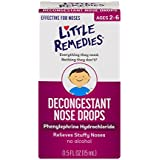 Little Remedies Decongestant Nose Drops | 0.5 oz | Pack of 4 | Relieves Stuffy Noses | For Ages 2+