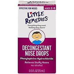 Little Remedies Decongestant Nose Drops, Children 2+, .50 fl oz (15 ml) (Pack of 4)