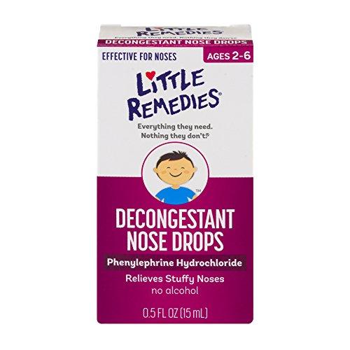 Little Remedies Decongestant Nose Drops | 0.5 oz | Pack of 4