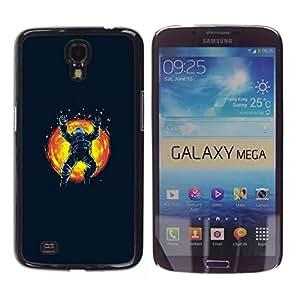 EJOY---Cubierta de la caja de protección la piel dura para el / Samsung Galaxy Mega 6.3 / --Espacio Astronauta Sun Explosión