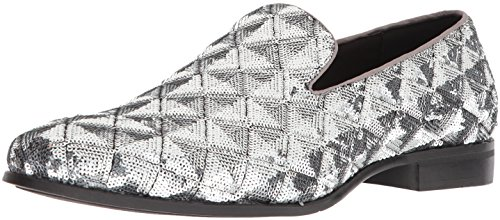 Stacy Adams Mens Swank Smoking Driving Style Slip-on Mocassino In Argento