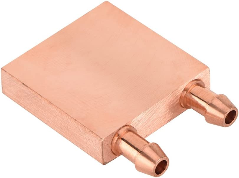 Copper Water Cooling Block,Recuperative Heat Exchanger for Graphics GPU Head CPU,High Heat Transfer Efficiency,Diameter of Internal Flow Channel 6mm Round Hole Channel