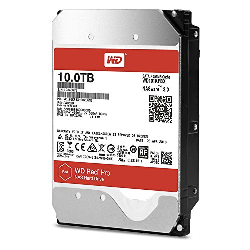 WD Red Pro WD101KFBX 10TB NAS 7.2K RPM SATA 6 Gb/s 256MB 3.5″ HDD
