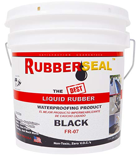 - Rubberseal Liquid Rubber Waterproofing and Protective Coating - Roll On (1 Gallons)