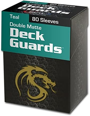 (1) Teal BCW Deck Guard Pack - Trading Card Sleeves - 80 Sleeves per Pack - BCW-DGM80-TEL 510M4VjxcyL