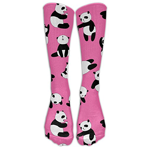 Child Clipart (Happy Pink Panda Clip Art Girls Stretchability 19 Inches Long Socks Cute For Cosplay Casual Socks)