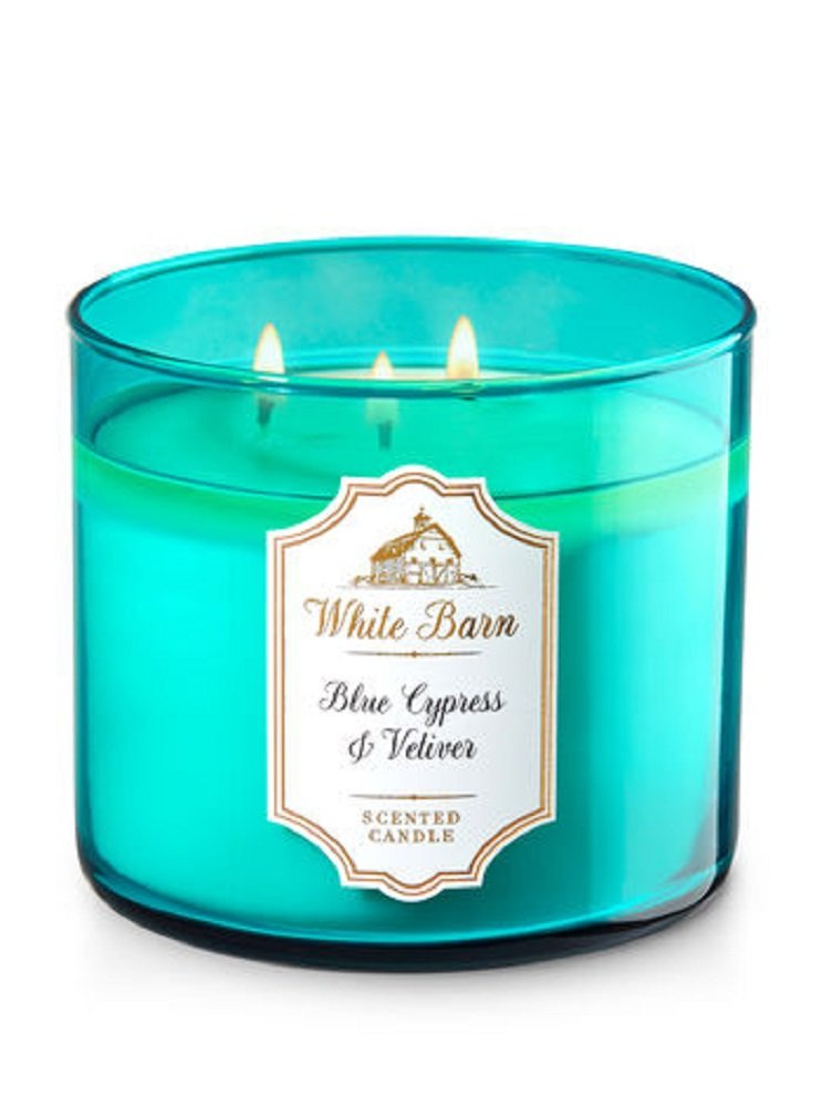 Bath & Body Works 3-wick Candle inブルーCypress Vetiver B00S6XIECE