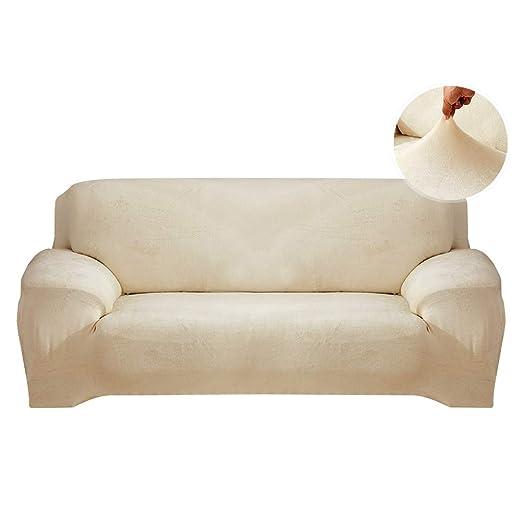 YZFZP - Funda de sofá de Terciopelo elástico, Color Beige, 1 ...