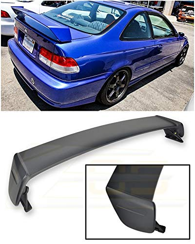 Extreme Online Store for 1996-2000 Honda Civic 2Dr Coupe | EOS Mugen Style JDM ABS Plastic Primer Black Rear Trunk Lid Wing Spoiler