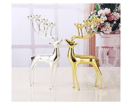 Amazon Anusa Luxurious Spotted Deer Candle Holders Stainless